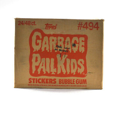 1986 Topps Garbage Pail Kids Stickers Wax Box EMPTY Case #494 24/48 ct. 719