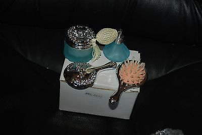 Madame Alexander Bathroom Set, Mirror, Brush, Perfume, Powder New in Box