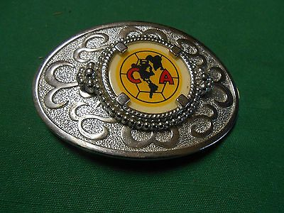Great Collectible RARE Vintage BELT BUCKLE Signed C A With North America Image