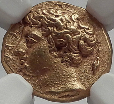 SYRACUSE in SICILY 405BC Gold 50 Litrae Authentic Ancient Greek Coin NGC MS