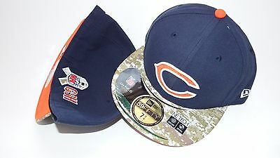 Nwt New Era Hat Cap Fitted 59Fifty Chicago Bears Size 7 3/8 Navy Blue Nfl