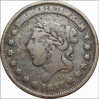 *HHC* Hard Times Token, 1837, Not one cent for Tribute (SKU #US2-31)