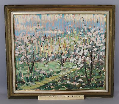 Antique Signed Early 20thC, Floral White Flowers Impressionist O/C Oil Painting