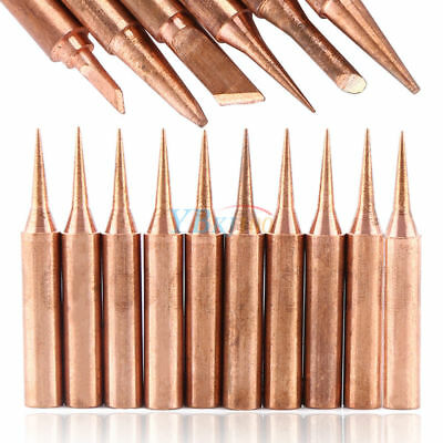 6/10Pcs Copper 900M-T Solder Tips Soldering Bits Welding Head Set Lead Free Tool
