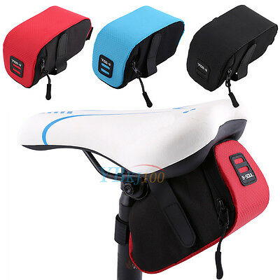 B-Soul Outdoor Bike Bicycle Cycling Saddle Bag Tail Seat Rear Pouch Storage New!