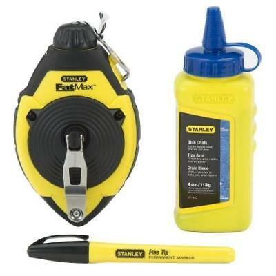 Stanley 47-681 100 Chalk Line Reel & Chalk Set New