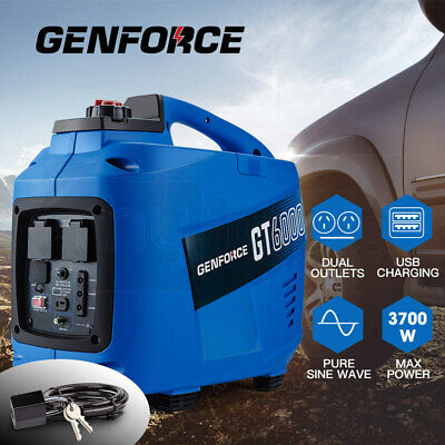 NEW GENFORCE Inverter Generator 3.7kVA Max 3.2kVA Rated Portable Camping Petrol