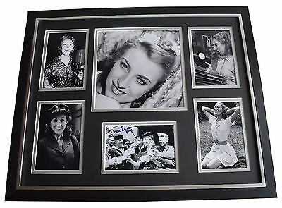 Dame Vera Lynn SIGNED Framed Photo Autograph Huge display WW2 Forces Music COA