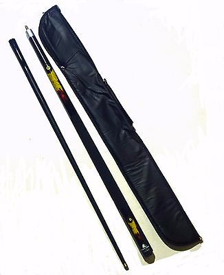 """POWERGLIDE 2 PC 57"""" FIREBALL AMERICAN POOL CUE WITH SOFT CASE. 13mm TIP"""