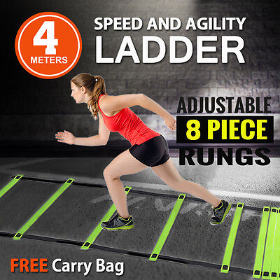 Agility Ladder Speed Sport Training 4m Football Fitness Boxing 8 Rungs Carry Bag