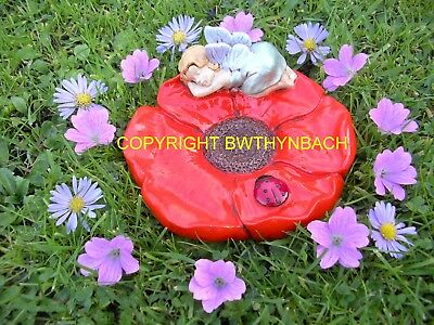 New Rubber Latex Mould Moulds Mold Fairie Fairy Sleeping On Flower