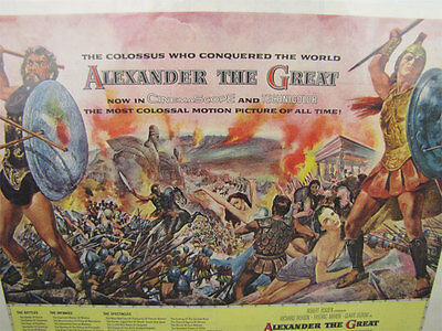 "Vintage 1954 ""Alexander the Great"" Movie Full-Page Advertisement Richard Burton"