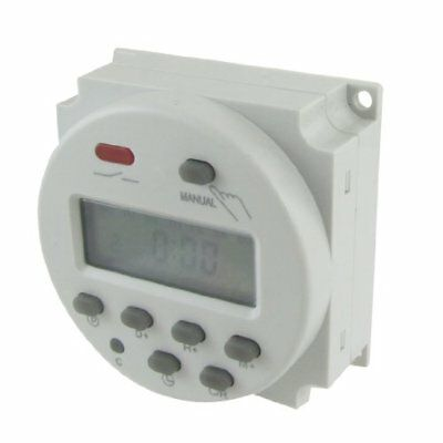 DC 24V Digital LCD Power Programmable Timer Time Switch Relay 10A New