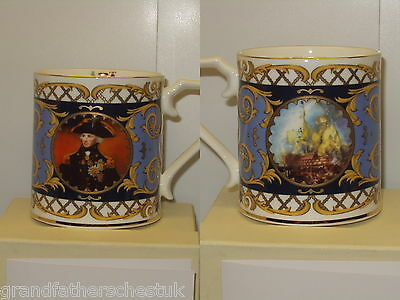 Rare Lord Nelson Collection Maritime Museum Mug Flair English China Boxed