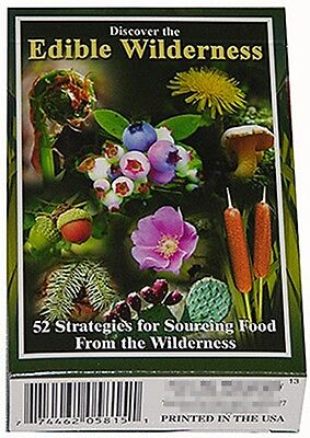 Discover The Edible Wilderness set of 52 playing cards + Jokers (sts)