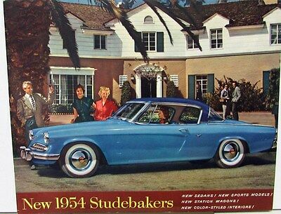 1954 Studebaker Champion Commander  Regal Deluxe Landcruiser Wagon Sale Brochure