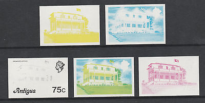 Antigua 2958 - 1976 PREMIER'S  OFFICE  75c set of PROGRESSIVE PROOFS unmounted