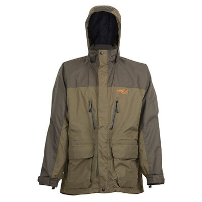 Airflo Defender Olive Twin Layered 100% Wind/Waterproof 3/4 Fly Fishing Jacket