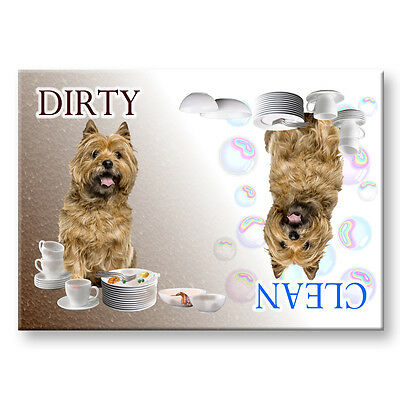 CAIRN TERRIER Clean Dirty DISHWASHER MAGNET No 2