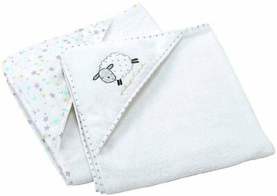 Silver Cloud COUNTING SHEEP HOODED CUDDLE ROBES Baby/Toddler Bath Towel BN