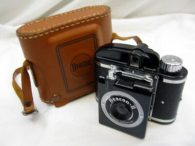 Vintage Beacon Ii Camera And Case , Art Deco , Minty