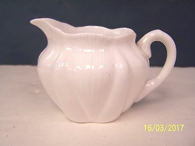 Shelley China Dainty White (no trim) Creamer