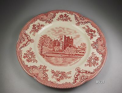 """Johnson Brothers Old Britain Castles Pink 2 Dinner Plates  9 7/8"""" - Perfect"""
