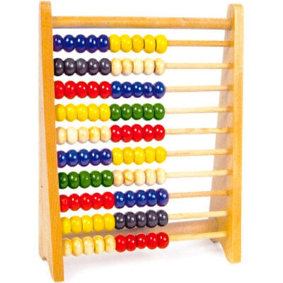 Large Wooden Children's Educational Learning Mathematics Abacus Bead Toy