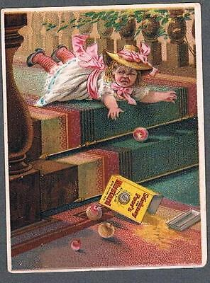 Original 1890's Boston Stickney & Poor's Mustards & Spice Advertising Trade Card