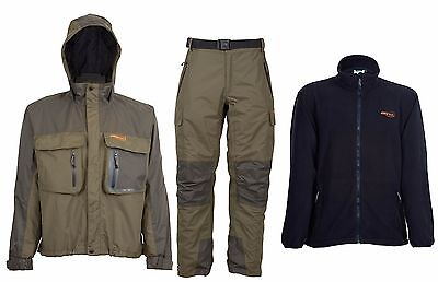 Airflo Defender Fly Fishing Waterproof Wading Jacket & Trouser with Free Fleece