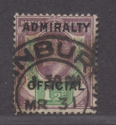 **Great Britain, SC# O80 Used, FVF Admiralty Official, CV $625.00