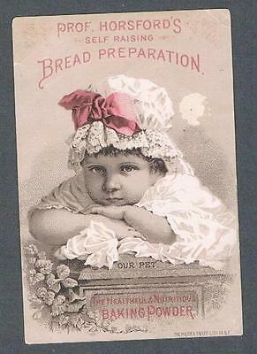 Original 1890's Prof. Horsford's Self Raising Bread Preparation Ad Trade Card