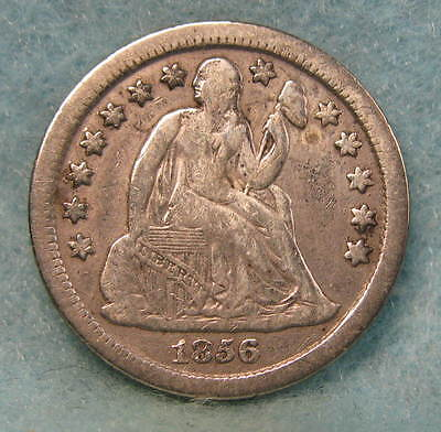 1856-O Seated Liberty Silver Dime FINE  Better Date! * Circulated US Coin #598