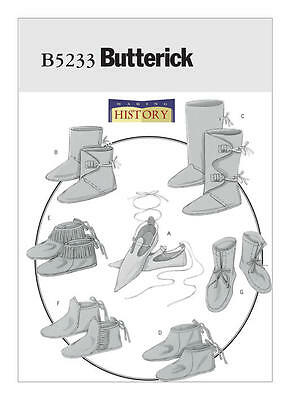 B5233 Sewing Pattern Renaissance Historical Footwear Slippers Boot Moccasins +