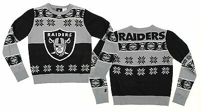NFL Youth Oakland Raiders Ugly Crewneck Sweater