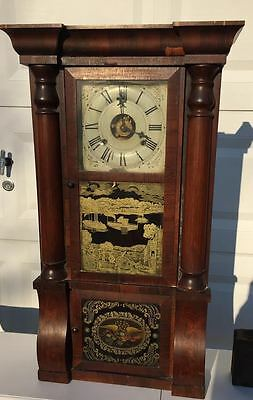 Antique Seth Thomas Eight Day Reverse Painted Mantel Clock