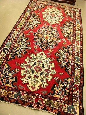 PERSIAN HAMADAN HAND WOVEN RUG IN RED TONES 155cm X 315cm ~ THICK SOFT WOOL