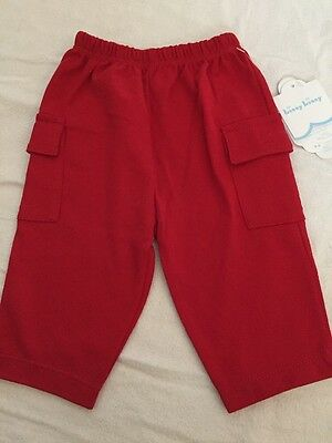 Kissy Kissy Red Pants Baby 3 6 Months Nwt