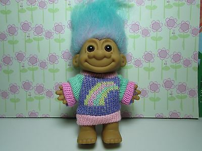 "RAINBOW SWEATER GIRL - 5"" Russ Troll Doll - NEW IN ORIGINAL WRAPPER - Rare"