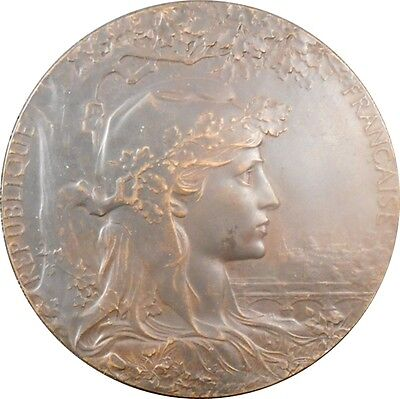 1900 Universal Expo / Paris Olympics Art Nouveau Medal by Jules-Clement Chaplain