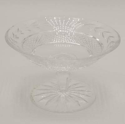 Waterford Cut Crystal Foot Pedestal Compote Bon Bon Candy Dish Signed 6""