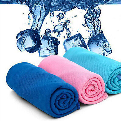 Ice Cold Enduring Running Work Out Gym Chilly Pad Instant Cooling Towel Sports