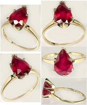 Ruby Gold Ring 3ct Antique 19thC Ancient Hebrew Israel Biblical Lord of Gems 14k