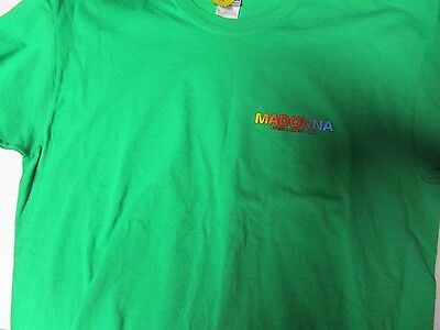 madonna sticky & sweet tour shirt size large nwot pop rock music