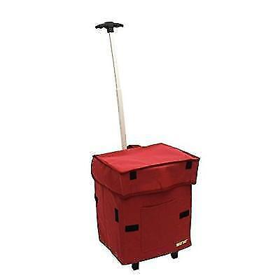 Smart Cart, RED Rolling Multipurpose Collapsible Basket Cart Scrapbooking New