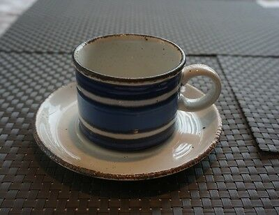 Midwinter Stonehenge Moon Pattern Pair Of Cup And Saucer Duos 1973