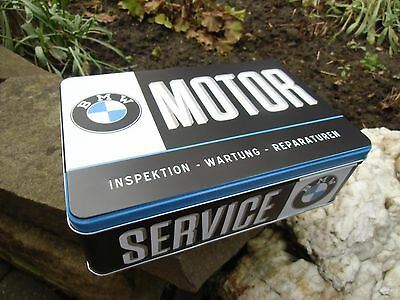Official BMW Service Motor Tin Storage / Lunch Box - Made in Germany