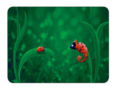 Silent Monsters Gaming und Office Mauspad 24 x 20 cm, Mousepad Design: Ladybird