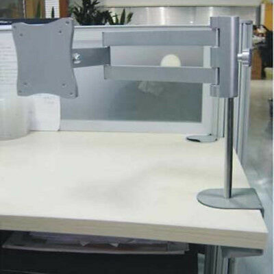 Office Single Arm Table Desk Mount LCD LED Computer Monitor Bracket 13-27""