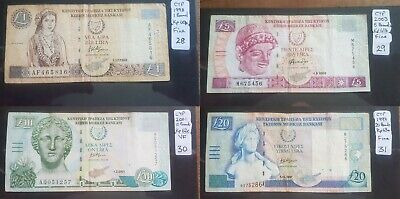 CYPRUS Banknotes. Choice of Notes Discounts up to 25% available